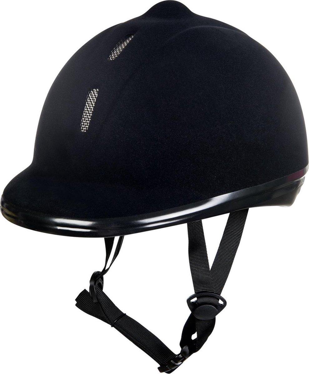 Cap, verstelbare helm met fluweel bekleed zwart M=53-57cm - HKM