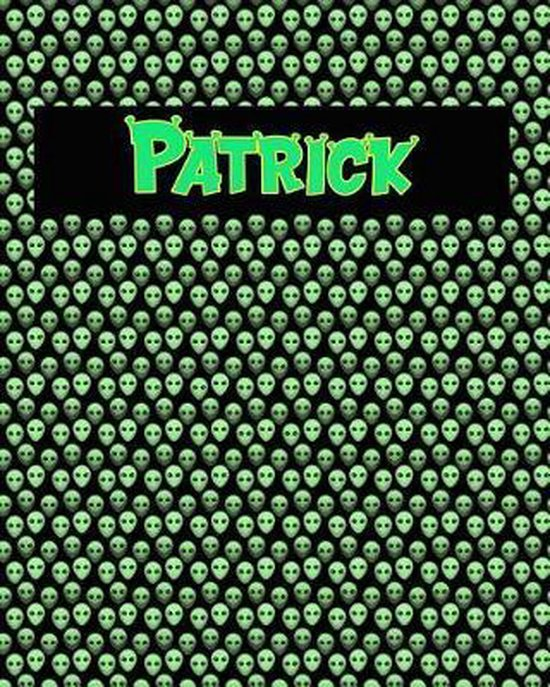 120 Page Handwriting Practice Book with Green Alien Cover Patrick
