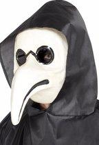 Halloween - Plaag dokter masker wit voor volwassenen