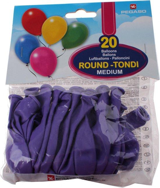 Pegaso Ballonnen 28 Cm Paars 20 Stuks