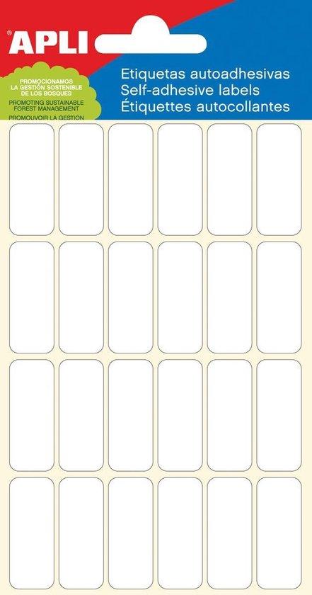 Afbeelding van Apli witte etiketten ft 12 x 30 mm (b x h), 144 stuks, 24 per blad (2671)