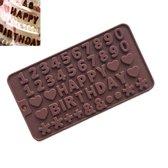 Kitchen Princess - Siliconen Chocoladevorm Happy Birthday - Fondant Bonbonvorm