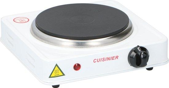 Cuisinier - Elektrische Kookplaat - 1000 Watt - Luxe Uitvoering