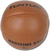 Tunturi  Medicine Ball - Medicijnbal - Crossfit ball - 3 kg - Bruin kunstleder