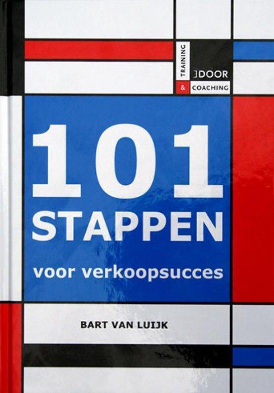 Cover van het boek '101 stappen voor verkoopsucces' van Bart van Luijk