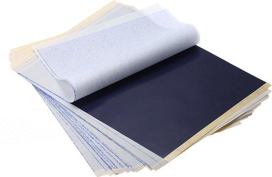 Afbeelding van 25x A4 Carbon Tattoo Transferpapier Carbon Stencil Transfer Hobby Grafiet Papier Carbonpapier