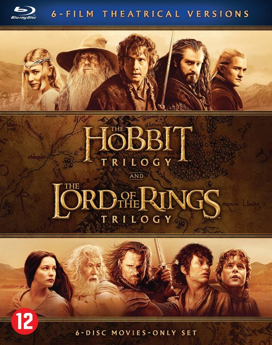 The Hobbit Trilogy & The Lord Of The Rings Trilogy (Blu-ray)