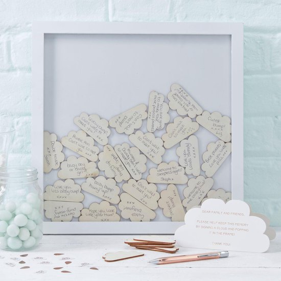 Gastenboek alternatief - Drop Top Frame - Hello World (30 delig) - Babyshower