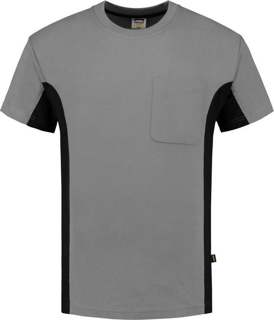Tricorp T-shirt Bi-Color - Workwear - 102002 - Grijs-Zwart - maat XL