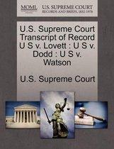 U.S. Supreme Court Transcript of Record U S V. Lovett