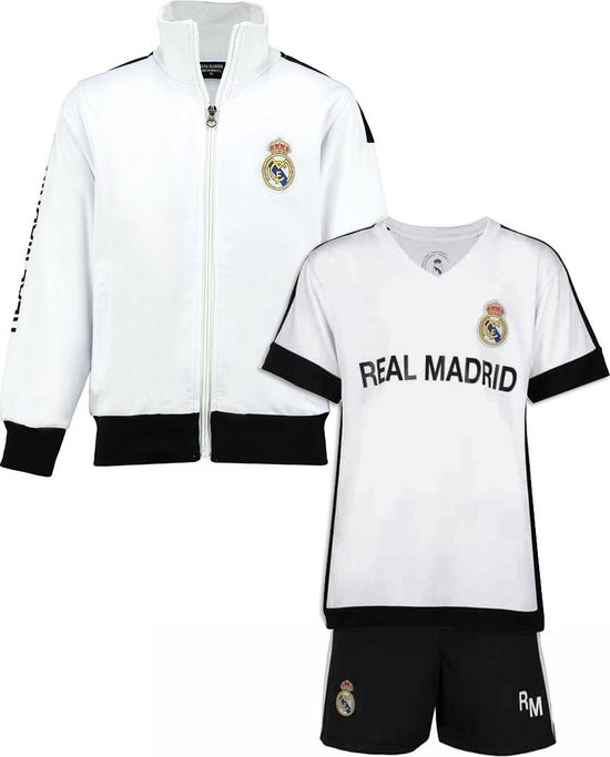 Real Madrid vest + Real Madrid thuis tenue