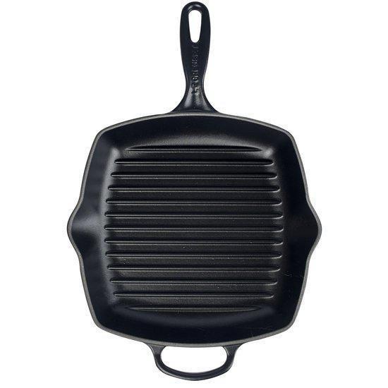 Le Creuset gietijzeren vierkante grillpan - 26cm - Mat Zwart