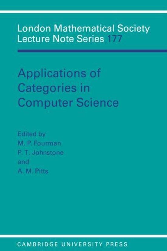 Boek cover Applications of Categories in Computer Science van N. J. Hitchin (Paperback)