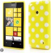 Dots silicone case hoesje Nokia Lumia 520 geel