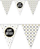 "Vlaggenlijn Festive Gold ""Happy Birthday"" 10 m"