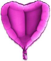 Grabo 18005P-P Heart Shape Balloon Single Pack, Length-18 In