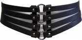 Zac's Alter Ego Taille riem Four straps corset Zwart