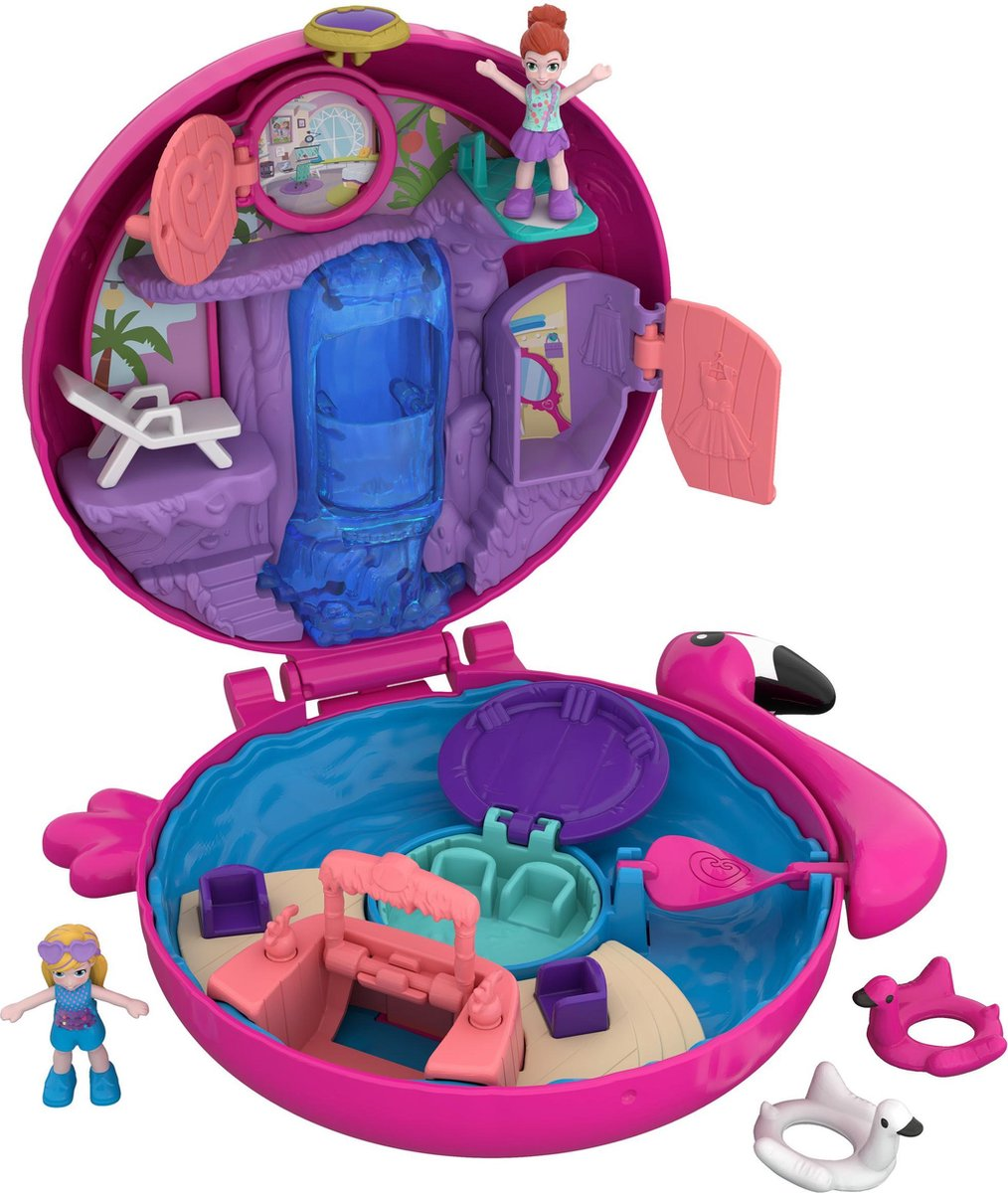 Polly Pocket Pocket World Flamingo Floatie - Speelfigurenset