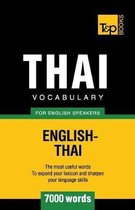 Thai Vocabulary for English Speakers - 7000 Words