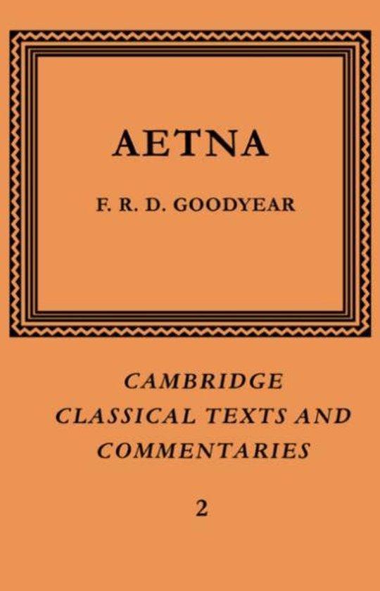 Boek cover Incerti Auctoris Aetna van F. R. D. Goodyear (Paperback)