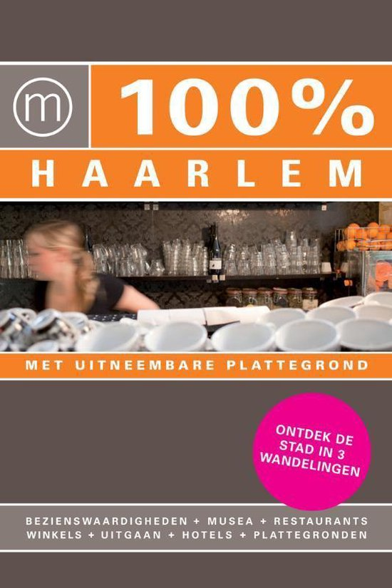 Cover van het boek '100%  / Haarlem + stadsplattegrond' van Janneke Voorn