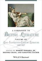 Boek cover A Companion to British Literature, Volume 3 van Robert DeMaria, Jr., Heesok Chan