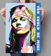 Poster Pop Art Axl Rose - Guns N' Roses - 50x70cm