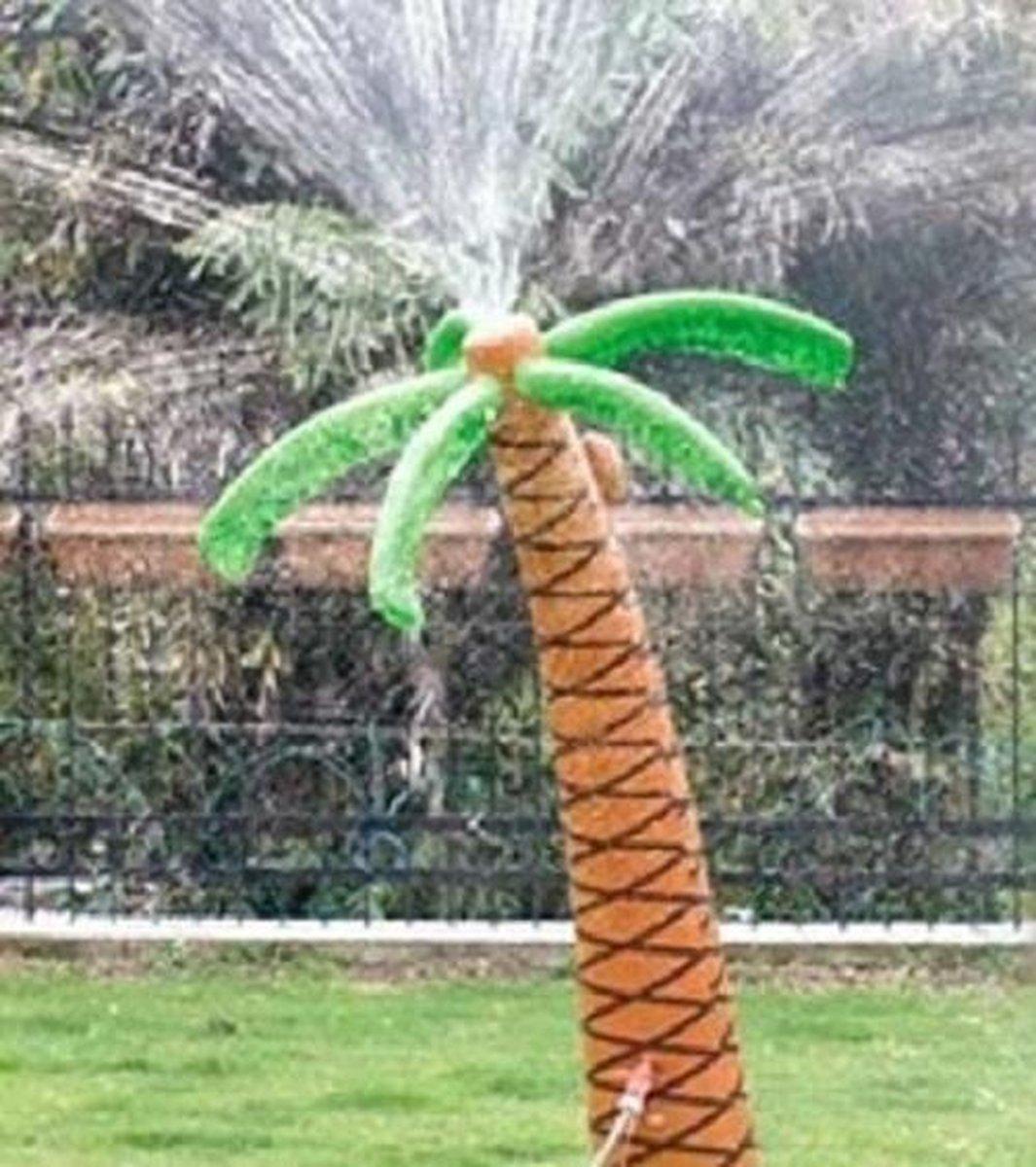Palmboom opblaasbaar, waterpret, watersproeier. (incl. wateraansluiting / kraanstuk)