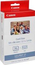 Canon KC-36IP Creditcard-size 54x86mm Inkt/Papier-set