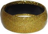 Gouden glitter armband