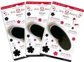 Heelers van Sole Sisters - Beschermende kussentjes voor je hiel - zwart - 3 paar