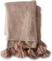 Rivièra Maison Tassel Throw brushed pink - 170x130cm - Plaid - Acryl;Wol;Polyester - Roze