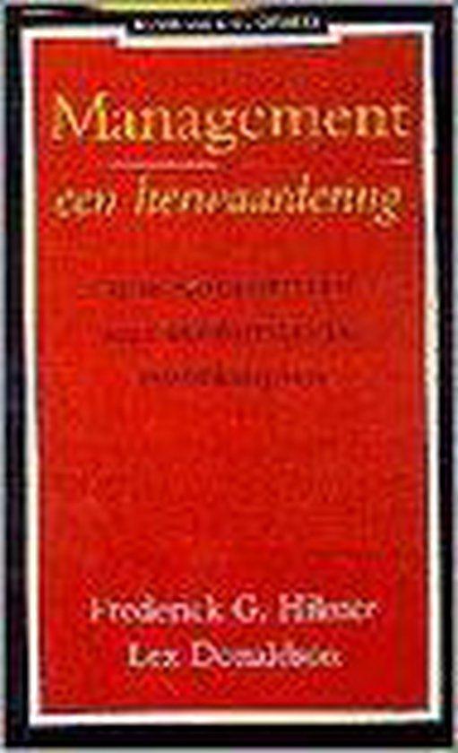 MANAGEMENT EEN HERWAARDERING - Lex Donaldson en Frederick G. Hilmer |