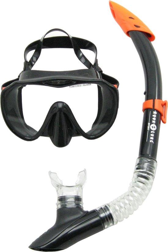 Aqua Lung Sport Malibu + Vera Cruz - Snorkelset - Volwassenen - Zwart