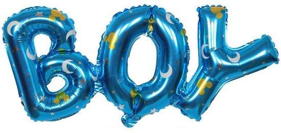 Folieballon Boy ster 91x36 cm