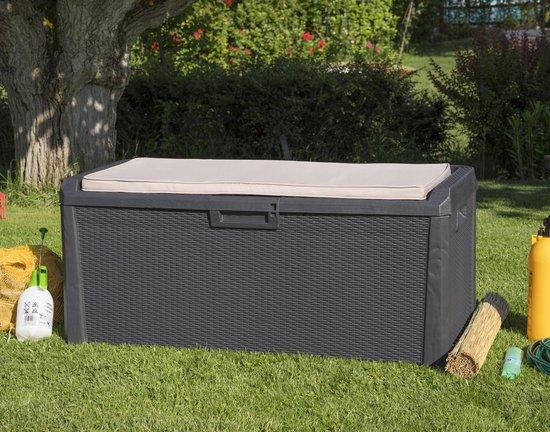 MaxxGarden Kussenbox Santorini Plus opbergbox voor kussens 640L 148x72x60cm