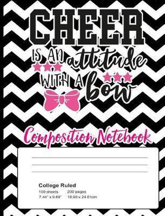 Cheer Is an Attitude with a Bow Composition Notebook