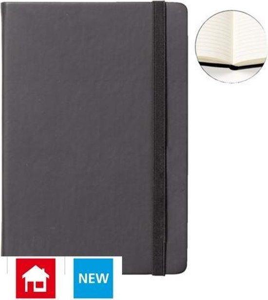 Afbeelding van Notitieboek A5 zwart met harde kaft en elastiek