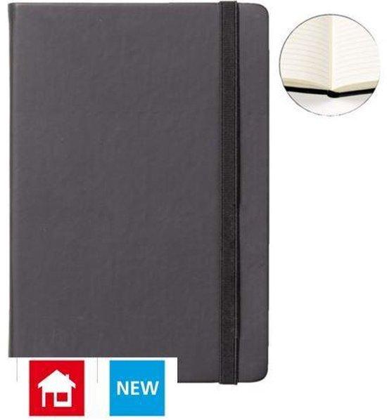 Notitieboek A5 zwart met harde kaft en elastiek