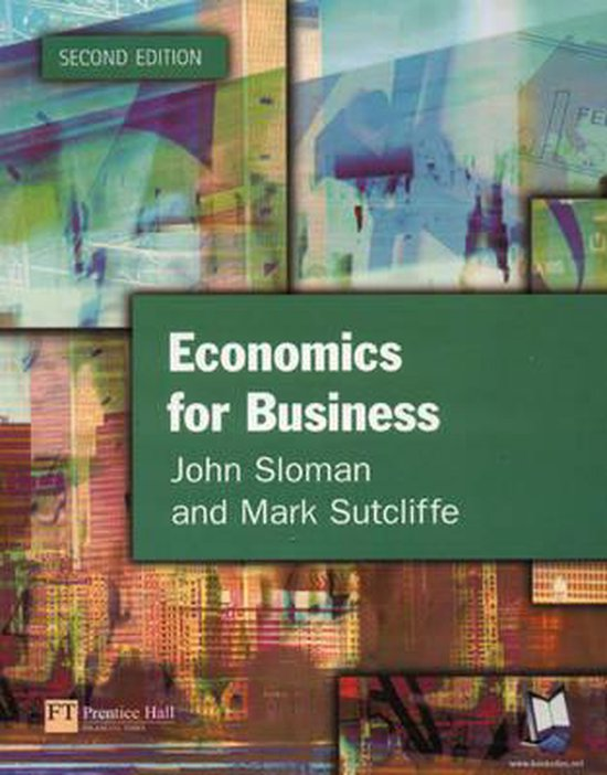 Boek cover Economics for Business (second edition) van John Sloman (Paperback)