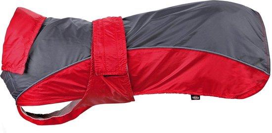 Trixie hondenjas regenjas lorient rood / grijs 35 cm