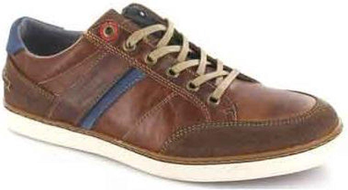   Mustang heren schoenen kastanje bruin maat 48