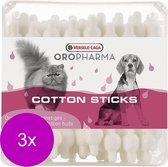Versele-Laga Oropharma Cotton Sticks Oorstokjes - Oorverzorgingmiddel - 3 x 56 stuks