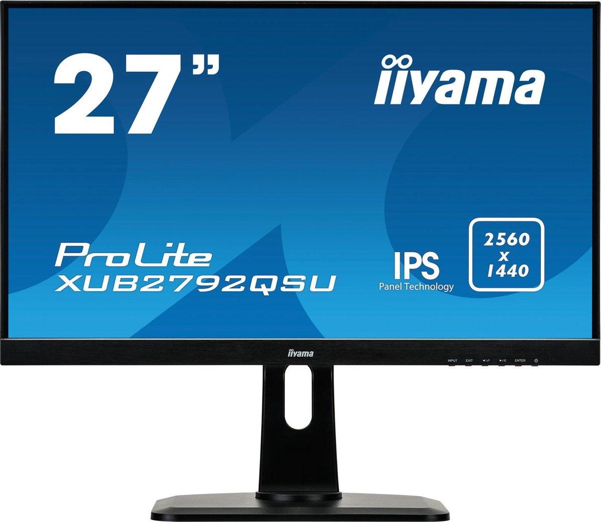 Iiyama ProLite XUB2792QSU-B1 - QHD IPS Monitor - 27 inch - Iiyama