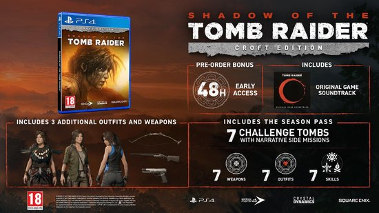 Shadow Of The Tomb Raider - Croft Edition - PS4 - Square Enix