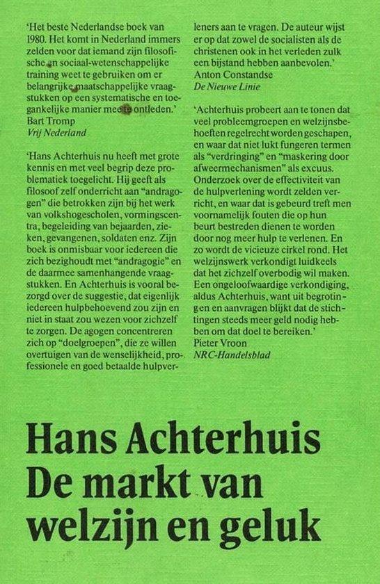 Boek cover De markt van welzijn en geluk van Hans Achterhuis (Paperback)