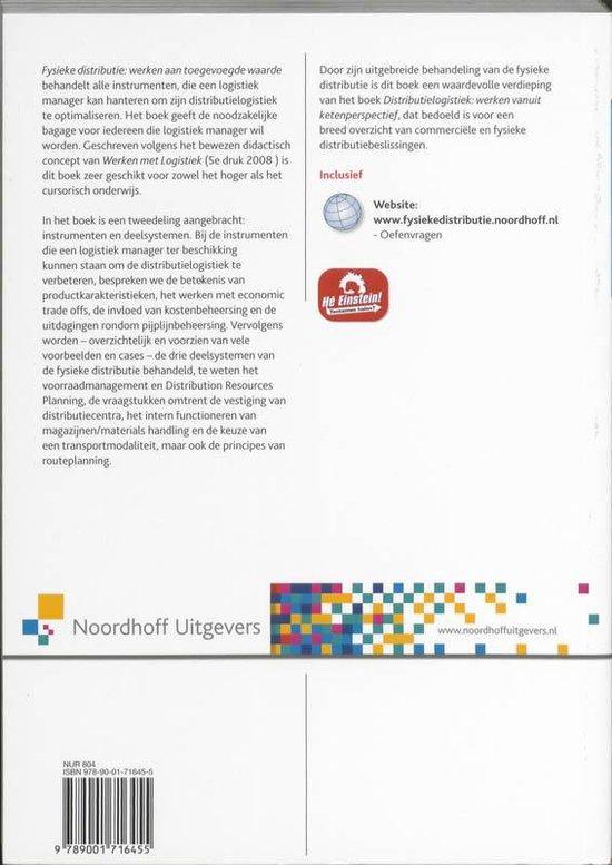 Werken met logistiek - Fysieke distributie - Ad van Goor pdf epub