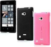 3in1 Set Matte silicone hoesje Nokia Lumia 720