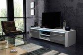Tvmeubel Hoogglans Wit & Grijs - Modern Design - Led verlichting