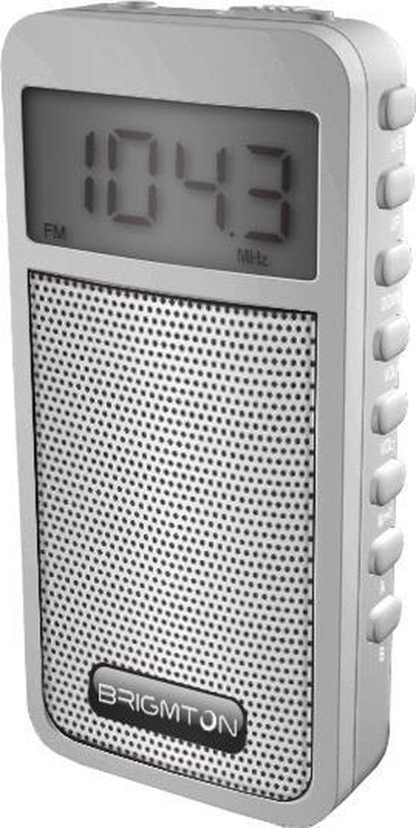 Brigmton BT-126 Draagbaar Digitaal Wit radio